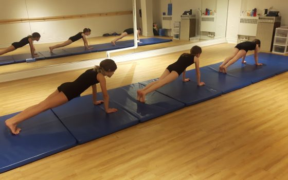 Acro Students working hard!
